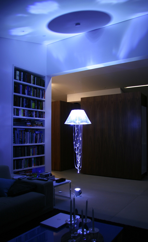une lampe design effet hologramme. Black Bedroom Furniture Sets. Home Design Ideas