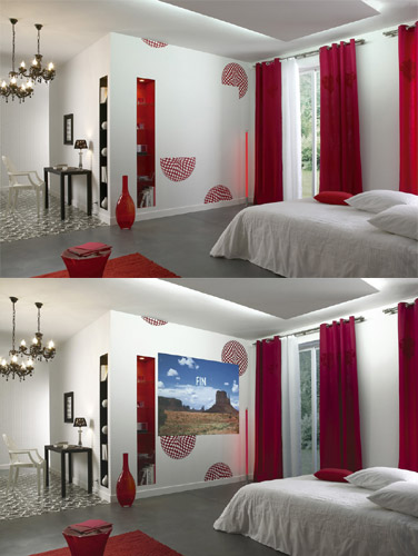 la peinture sp ciale home cin ma. Black Bedroom Furniture Sets. Home Design Ideas