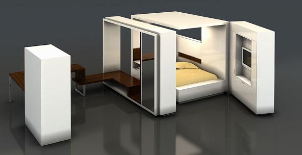 une chambre design et modulable. Black Bedroom Furniture Sets. Home Design Ideas