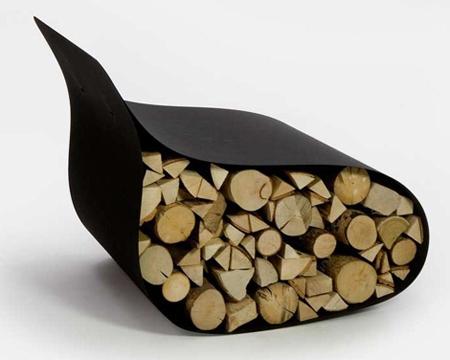 rangement design pour bois de chauffage. Black Bedroom Furniture Sets. Home Design Ideas