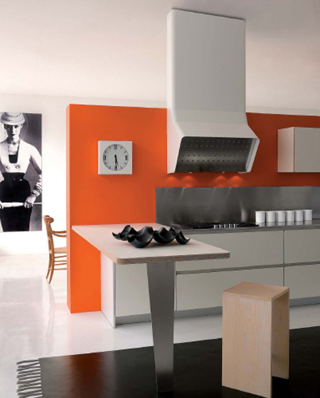 Une cuisine design - Colorare pareti cucina ...