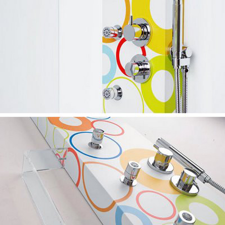 Douche d co pour salle de bain color e Baignoire coloree