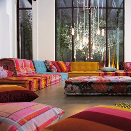 Canapés Roche Bobois Design Colorés