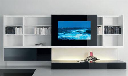 bibliothèque design... - Meuble Tv Bibliotheque Design