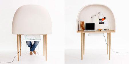 Bureau design par gamfratesi for Petit bureau de travail