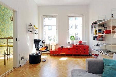 un appartement plein de couleurs. Black Bedroom Furniture Sets. Home Design Ideas