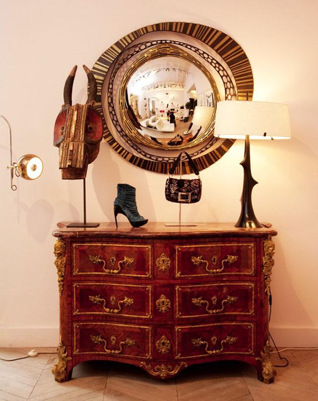 maison d co chez ines de la fressange. Black Bedroom Furniture Sets. Home Design Ideas
