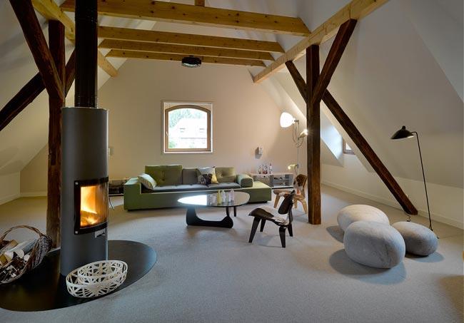 d coration combles. Black Bedroom Furniture Sets. Home Design Ideas
