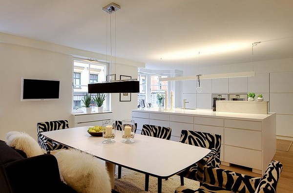 Appartement design scandinave salle a manger 2