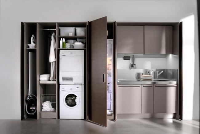 cuisine escamotable design. Black Bedroom Furniture Sets. Home Design Ideas