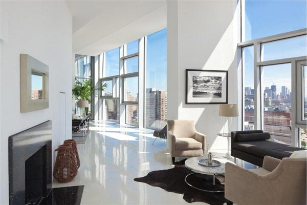 D coration d 39 un penthouse de luxe new yorkais for Salon moderne deluxe