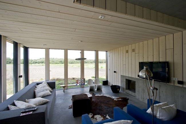 Maison design en bois, the Chimney House