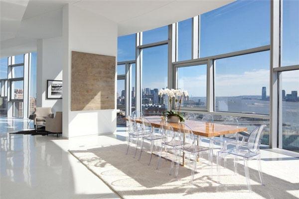 decoration Penthouse de luxe salle a manger