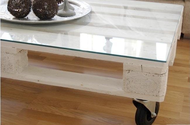 D coration avec des palettes - Fabriquer une table basse avec une palette en bois ...