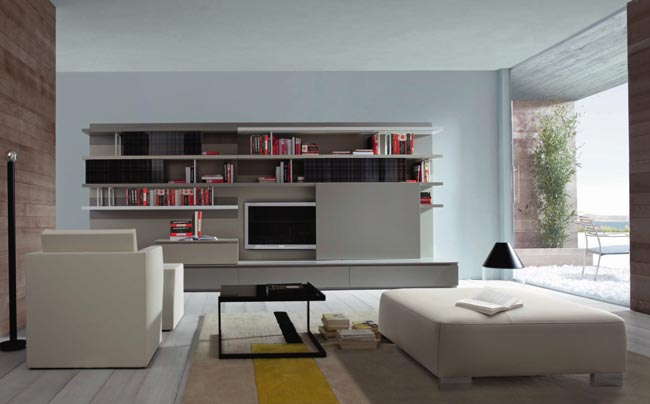 amenagement de salon par ligne roset. Black Bedroom Furniture Sets. Home Design Ideas