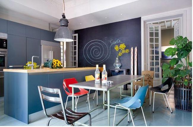 Cuisine Smile Meuble Decoration : Deco salon bleu nuit id� es sur le thème murs marine