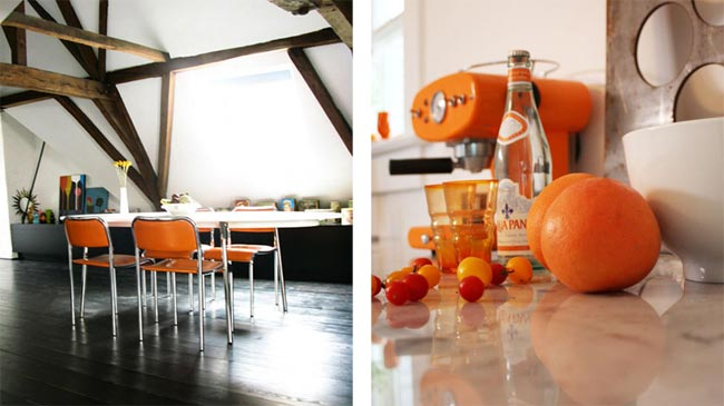 Inspiration pour une d co orange for Deco cuisine orange