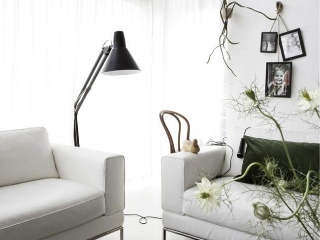 inspiration deco noir et blanc salon. Black Bedroom Furniture Sets. Home Design Ideas