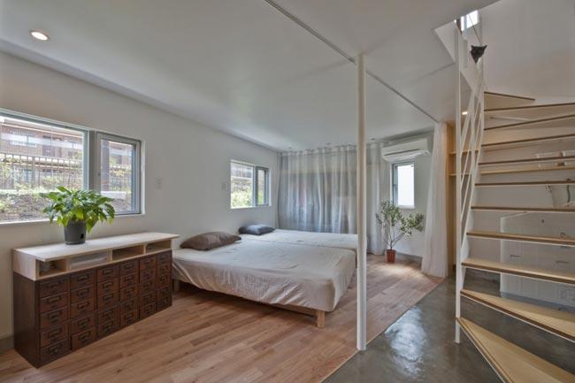 Maison design atypique de 55m2 chambre