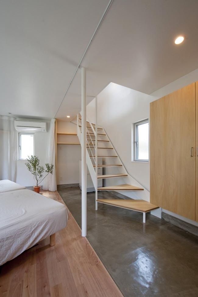 Maison design atypique de 55m2 escaliers bois