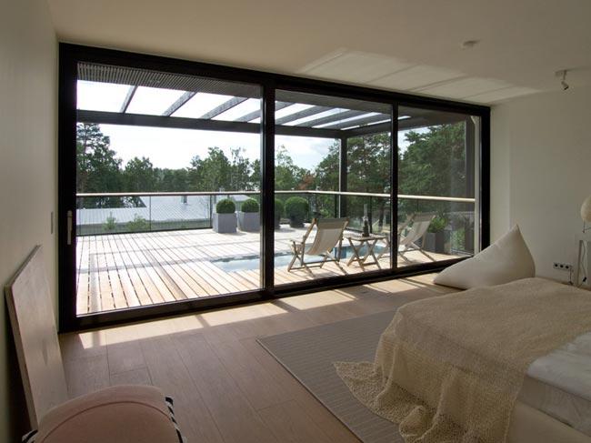 Villa Avec Terrasse : Villa design chambre avec terrasse