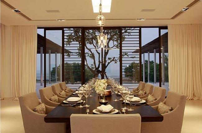 villa design en thailande salle a manger