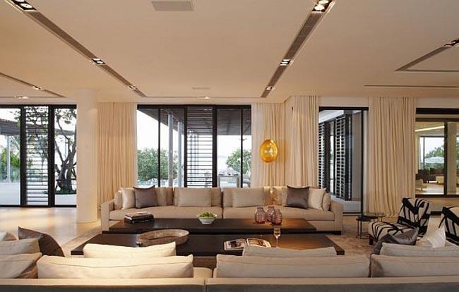 villa design en thailande salon