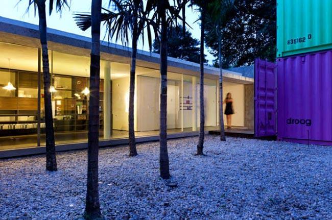maison design avec container-terrasse