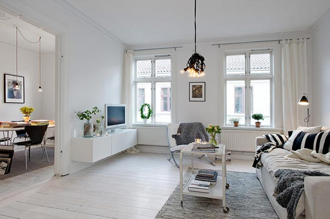 Appartement scandinave for Decoration appartement style scandinave