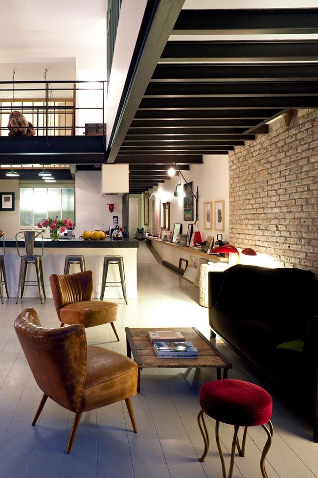 loft vintage. Black Bedroom Furniture Sets. Home Design Ideas