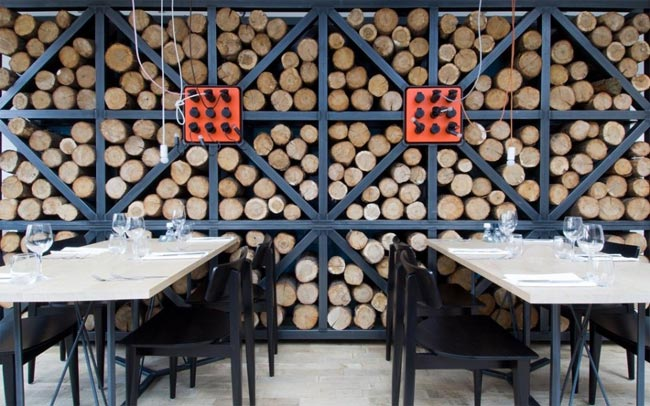 Restaurant design deco bois et industrielle 2 for Deco restaurant design