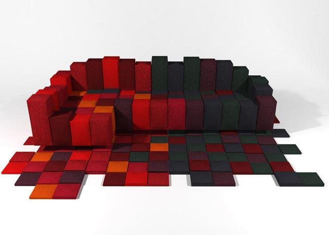 idees cadeaux de noel tapis design With tapis shaggy avec ron arad canapé