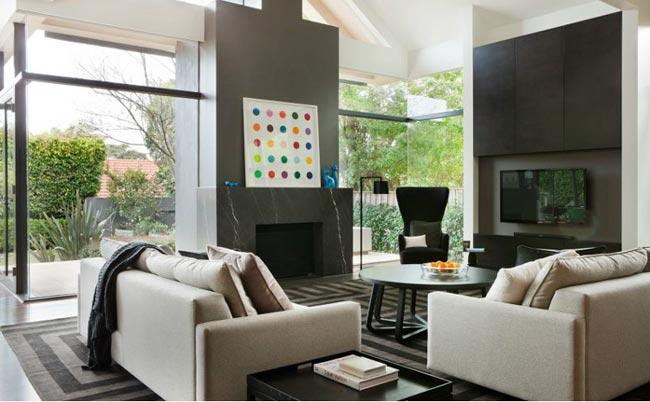 maison contemporaine par mim design salon. Black Bedroom Furniture Sets. Home Design Ideas