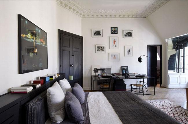 un appartement parisien par sarah lavoine. Black Bedroom Furniture Sets. Home Design Ideas