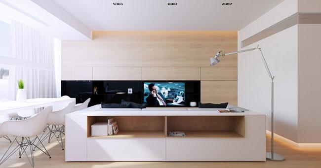 appartement design bois 7. Black Bedroom Furniture Sets. Home Design Ideas