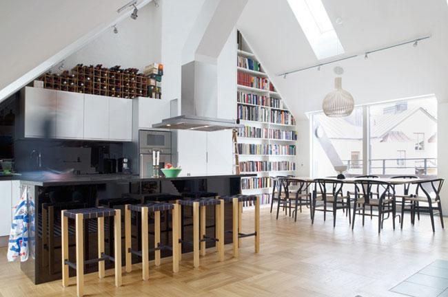 Un bel appartement sous les toits