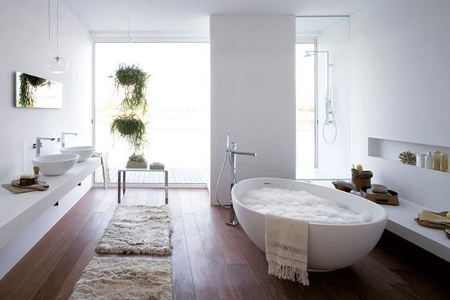 Baignoire design en forme d 39 oeuf for Peut on repeindre une baignoire