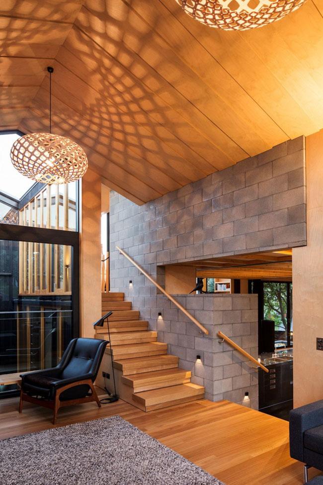 Maison design beton et bois