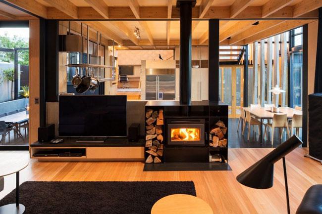 Maison design cheminee