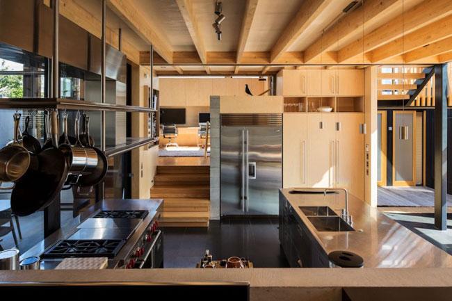 Maison design cuisine inox