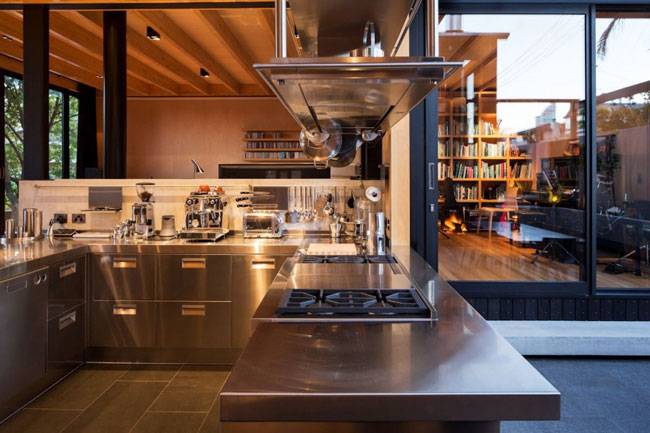 Maison design details cuisine inox