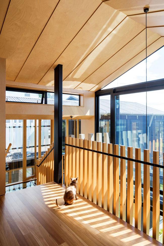 Maison design escaliers bois