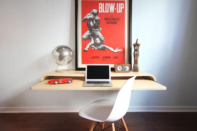 Minimal Float Wall Desk 2