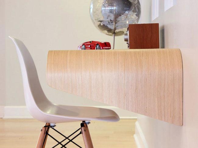 Minimal Float Wall Desk 3