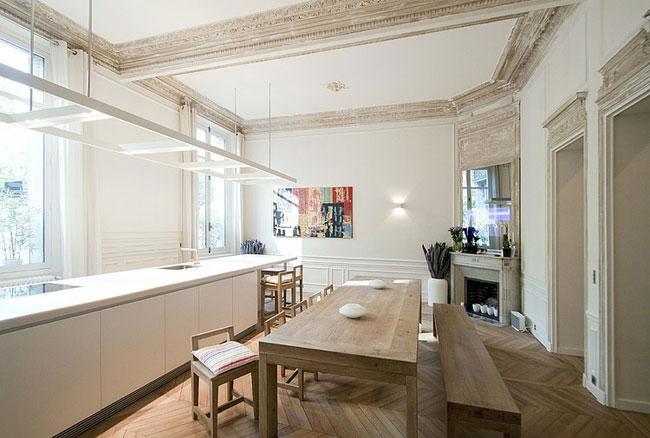 appartement moderne avec passerelle paris. Black Bedroom Furniture Sets. Home Design Ideas