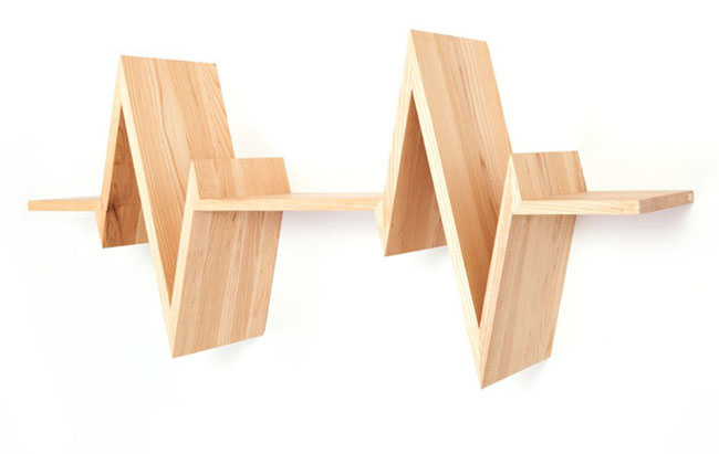Etag re design bois battements de coeur - Etagere en bois design ...