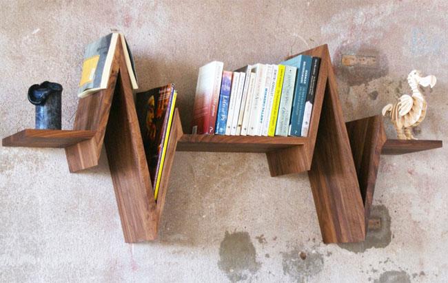 Etagère design bois « battements de coeur » ~ Etagere Bois Design