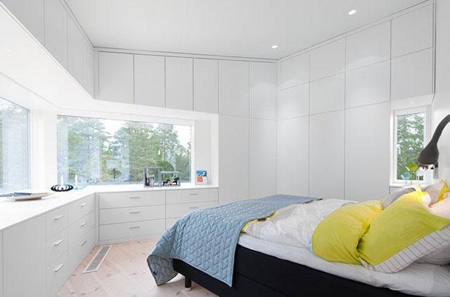 Maison design suedoise en noir et blanc 9