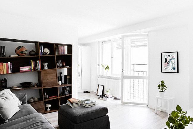 un appartement moderne stockholm. Black Bedroom Furniture Sets. Home Design Ideas