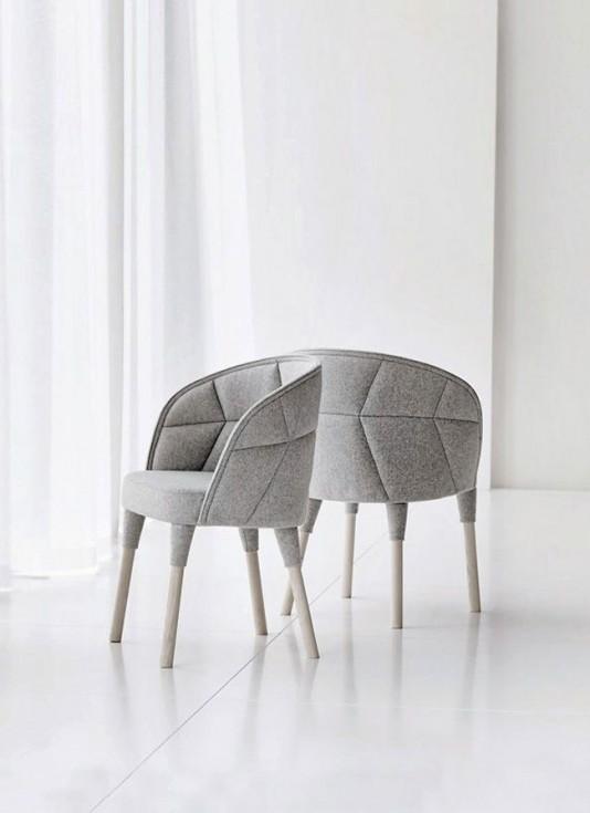 Fauteuil Design Gris : Fauteuil design gris